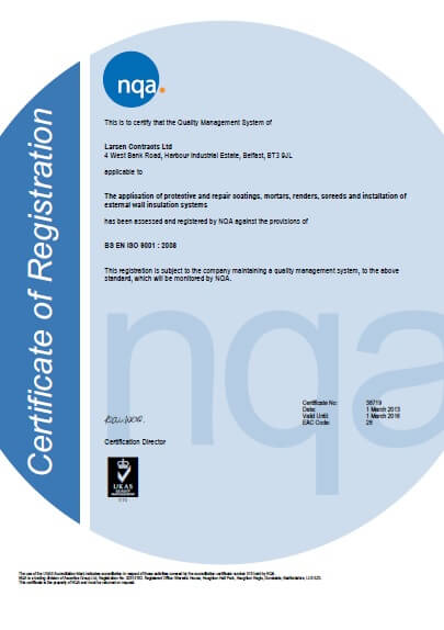 Larsen accredited with ISO 9001