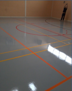 sports hall resin floor